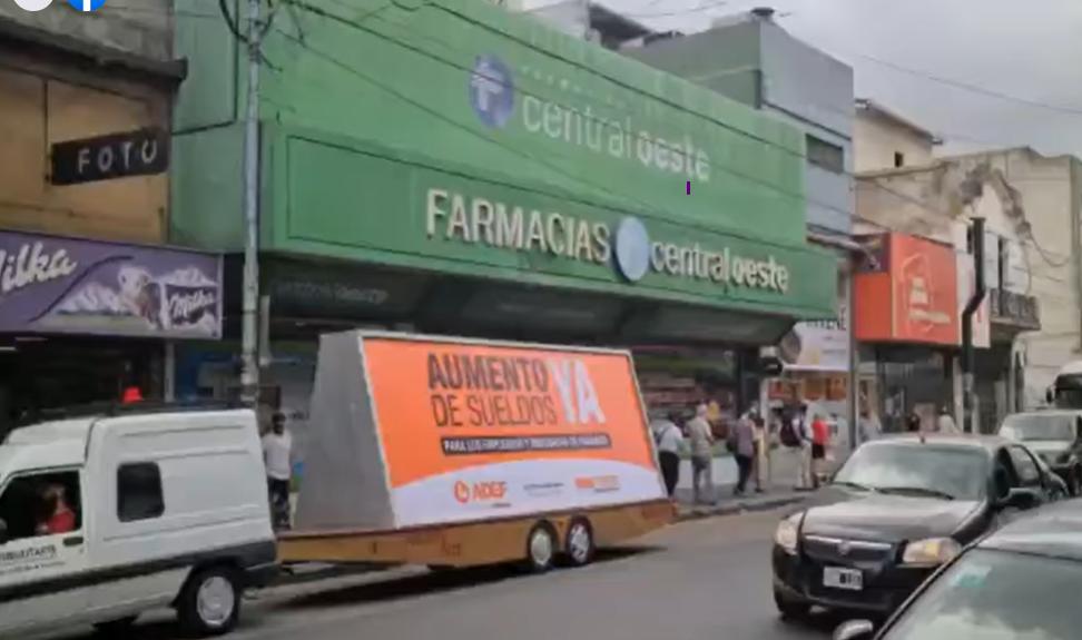 ADEF : MOVILIZACIONES EN RAMOS MEJIA DE EMPLEADOS DE FARMACIAS