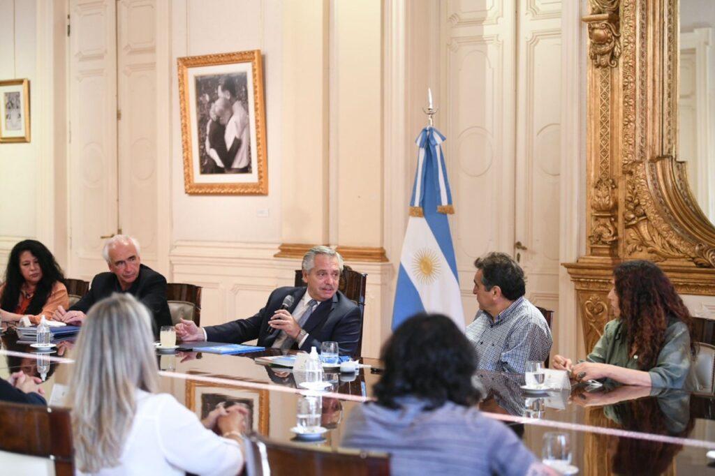 Alberto Fernández se reunió con la CTA Autónoma para debatir políticas públicas